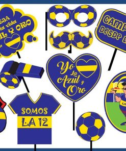 "897- Photo booth prop ""azul y oro"" x12"