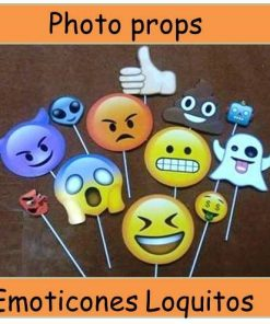 829- Photo props emoticon loquitos x 12