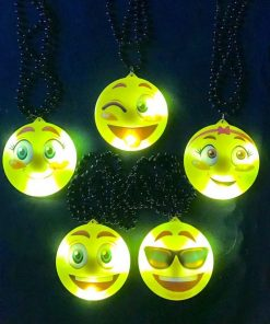 456- Collar emoticon luminoso x 1