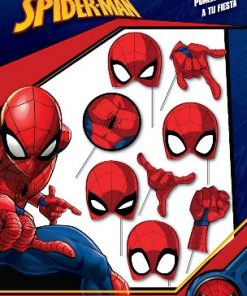 1031-photo booth props de spiderman x 8