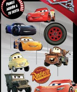 1034-photo booth props de cars x 8