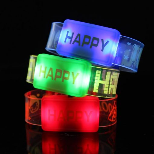 741- Pulsera luminosa HAPPY x 1