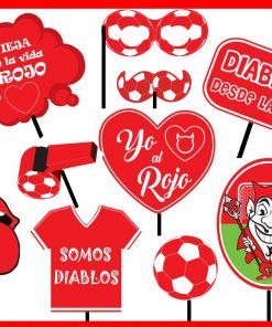 "899- Photo booth prop ""el rojo"" x12"
