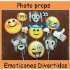 827-Photo props emoticones divertidos x 12