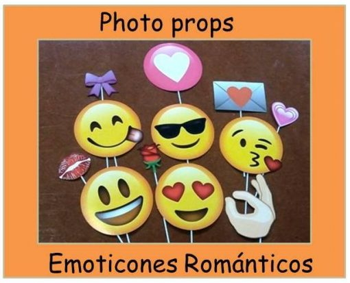 828-Photo props emoticones románticos x 12